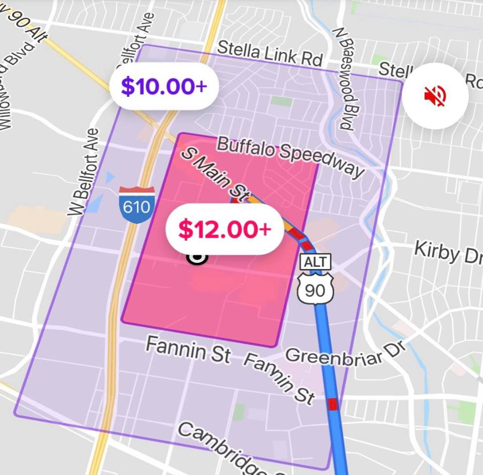 This is just an example and prices may be higher or lower. Notice how the higher pricing is focused at the Green Lot/NRG.