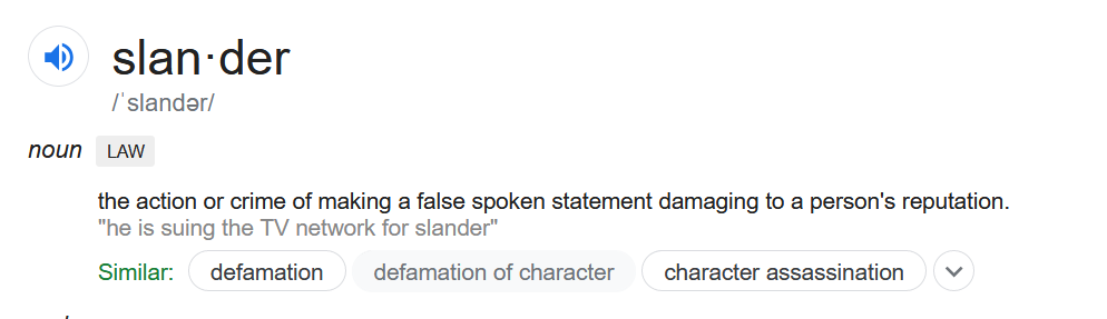 What exactly is slander?
