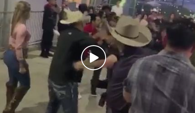 Huge Brawl at the Houston Livestock Show and Rodeo