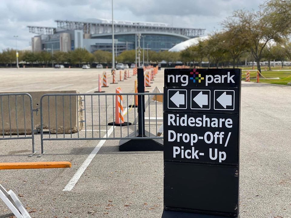 Where is the Houston Rodeo Uber drop-off and pick-up area?