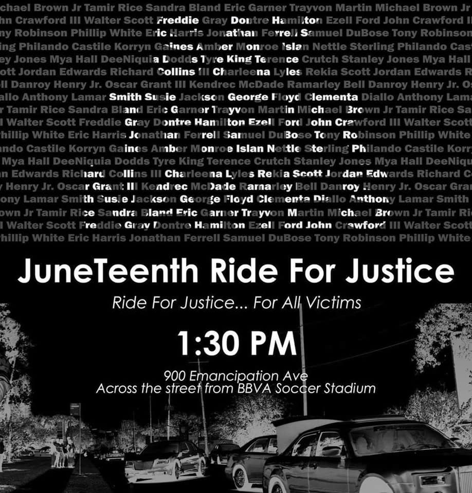 JuneTeenth Ride for Justice, with Trae the Truth