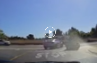 Watch: Idiot driver gets what they deserved