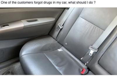 Rideshare Passenger Leaves Drugs in Uber