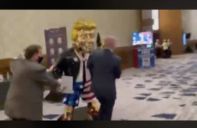 Golden Statue of Trump at CPAC