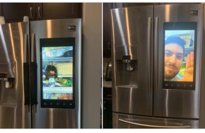 A guy photoshops himself into his fridge