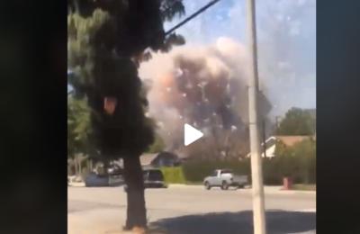 Watch: Firework Explosion in Ontario, CA